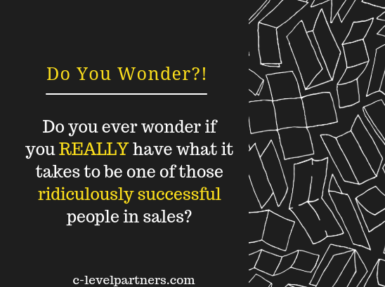 Successful Salespeople - C-Level Partners