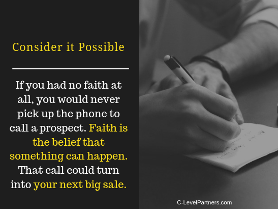 Have faith to be successful - C-LevelPartners