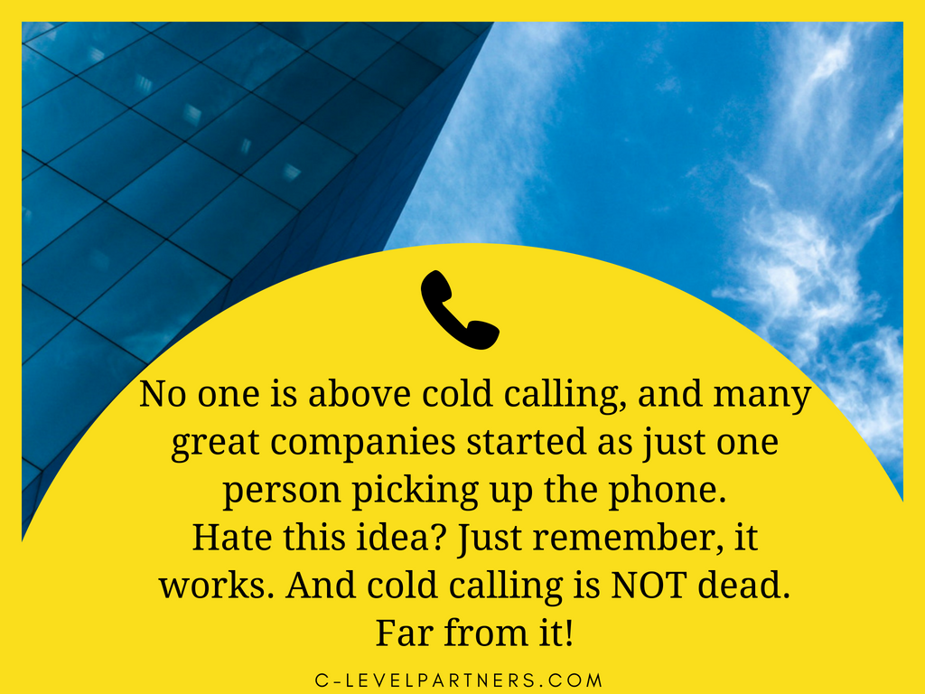 cold calling not dead