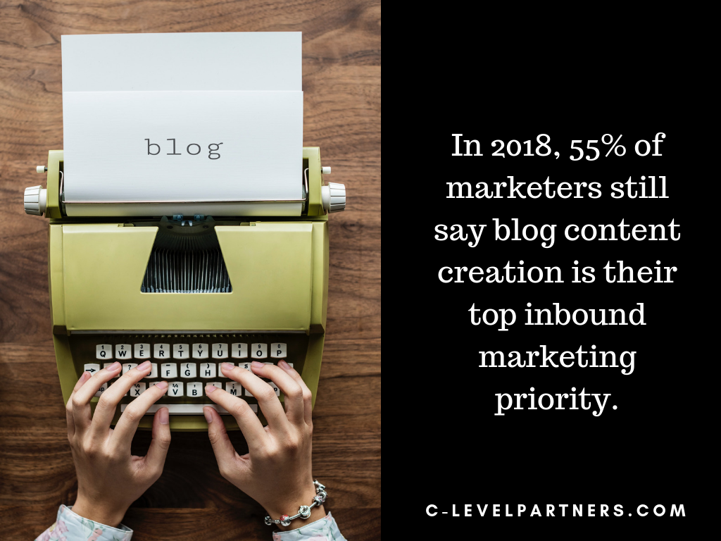 More than half of all marketers still rely on quality blogs to generate traffic and leads.
