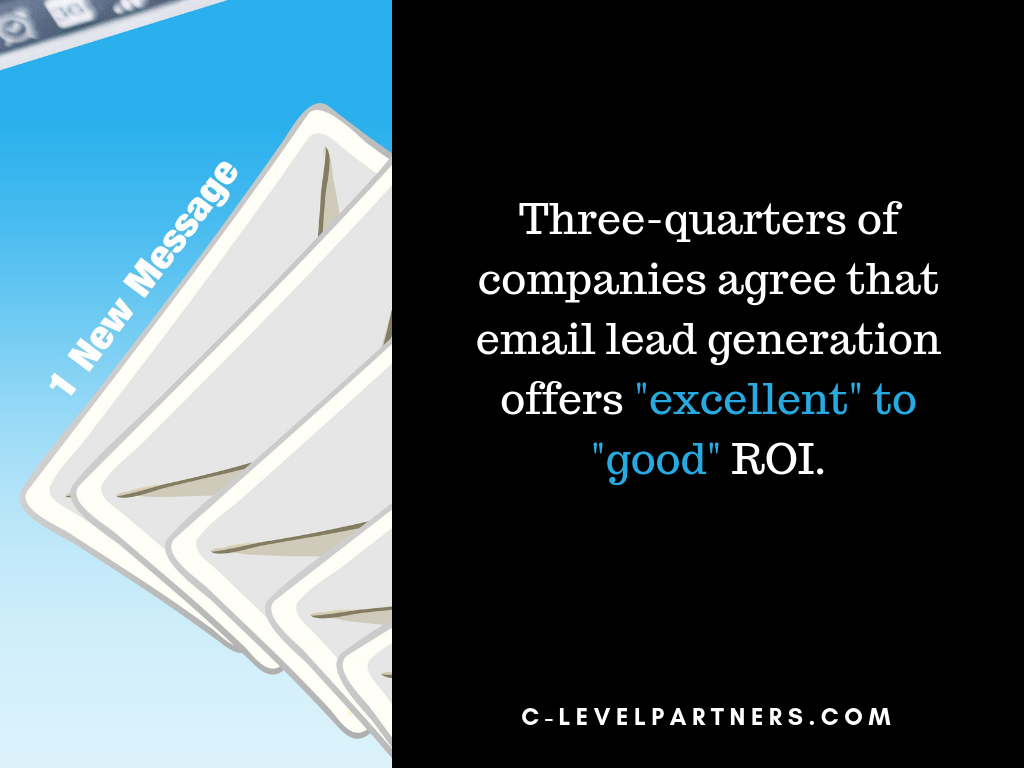 Most companies agree that email lead generation offers excellent ROI. Partner with C-Level Partners and unlock a world of qualified leads and sales opportunities.