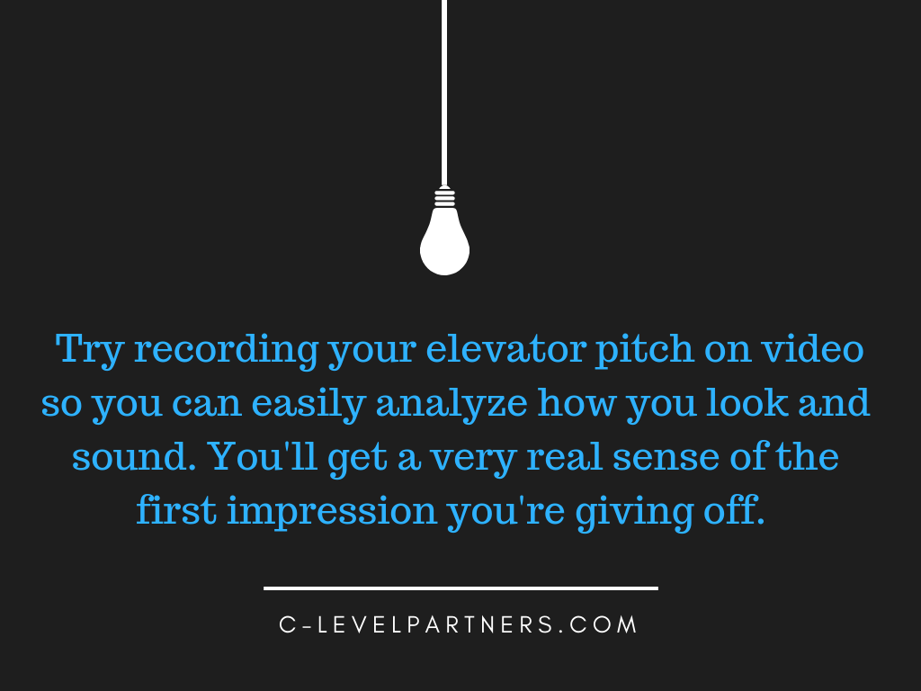 C-Level Partners Elevator Pitch