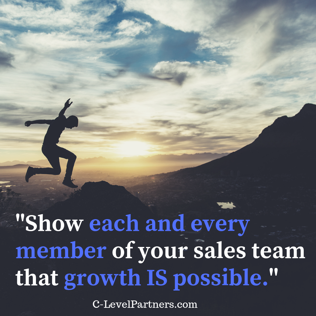 C-Level Partners encourages sales coaches to show their sales team how growth is possible.