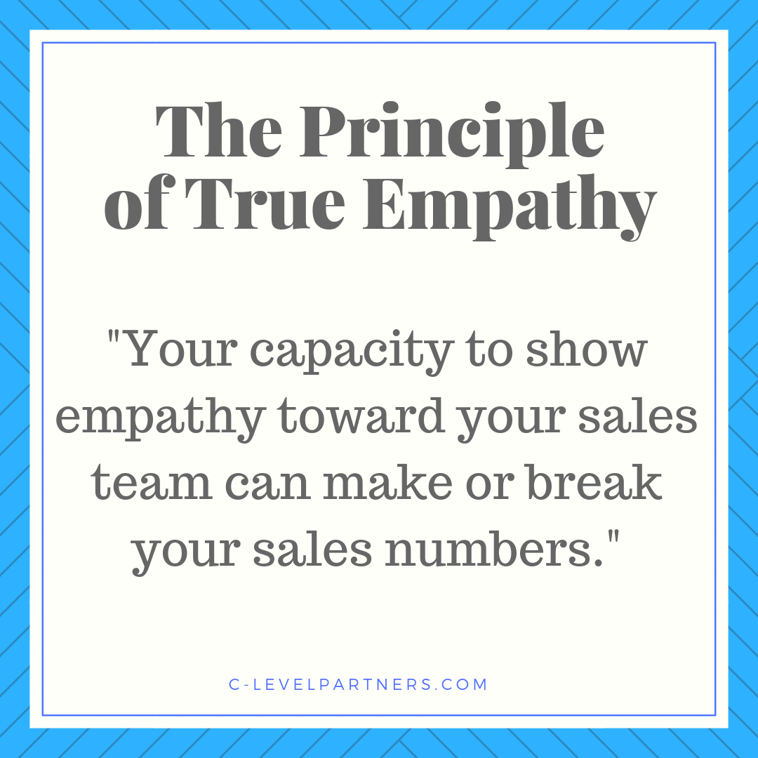 Here at C-Level Partners, we understand that the capacity to show empathy will make or break your sales numbers.