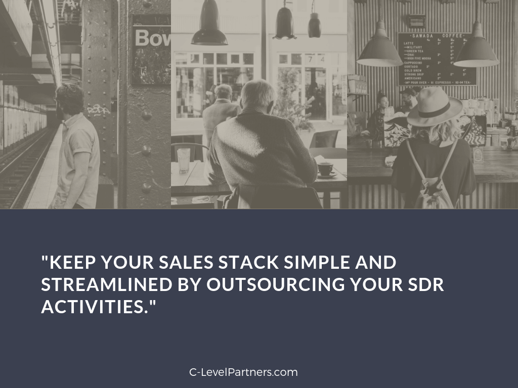 keep your sales stack simple by outsourcing your appointment setting